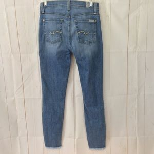 7 For All Mankind Jeans - 7 For All Mankind Guinevere Raw Hem Ankle Skinny